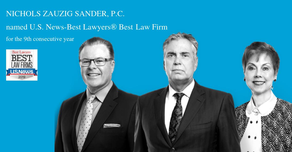 Best Lawyers® - U S  News Names Nichols Zauzig Top-Tier Best
