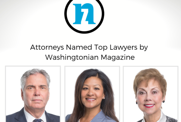 Washingtonian Top Lawyers includes 3 Nichols Zauzig Lawyers